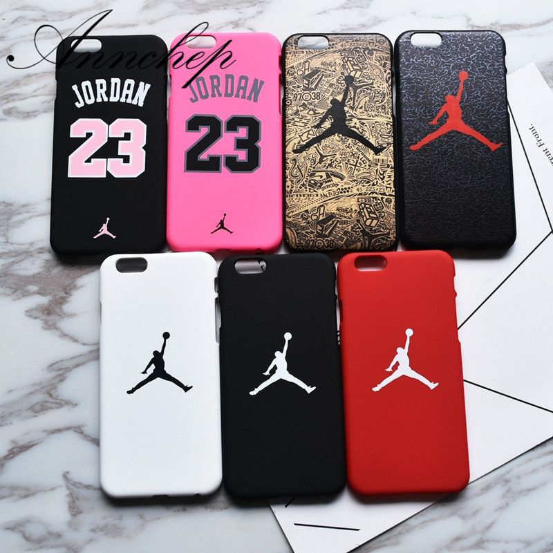 a7f1d16b909 Luxury case for iphone 6 6s Plus X Basketball Flying Man Jordan matte PC  case for iphone 7 8 Plus 5s SE Cover Capa Funda Coque