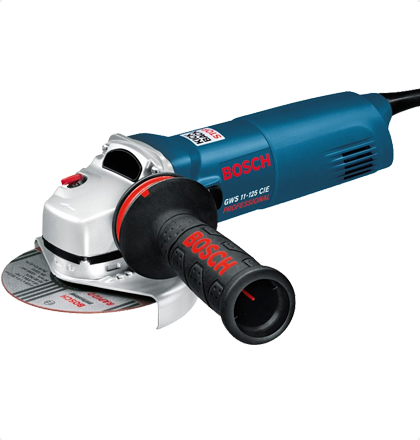 Bosch Gws 11 125 Cie Small Angle Grinder Features Gws 11 125 Cie Professional Vibration Control Auxiliary Handle Ensures Your Join Angle Grinder Bosch Grinder