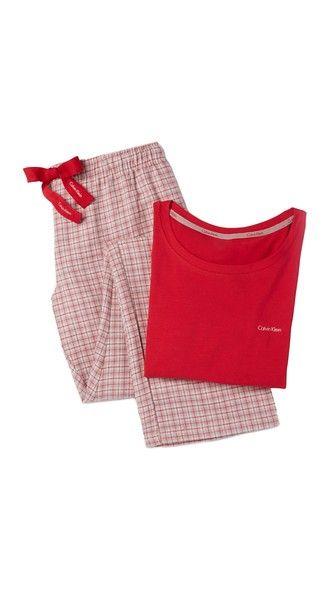 Calvin Klein  Flannel Pajamas Gift Set, gift guide, gifts under $100, gifts under $25, gifts under $50, holidays, holiday gift, holiday gift guide