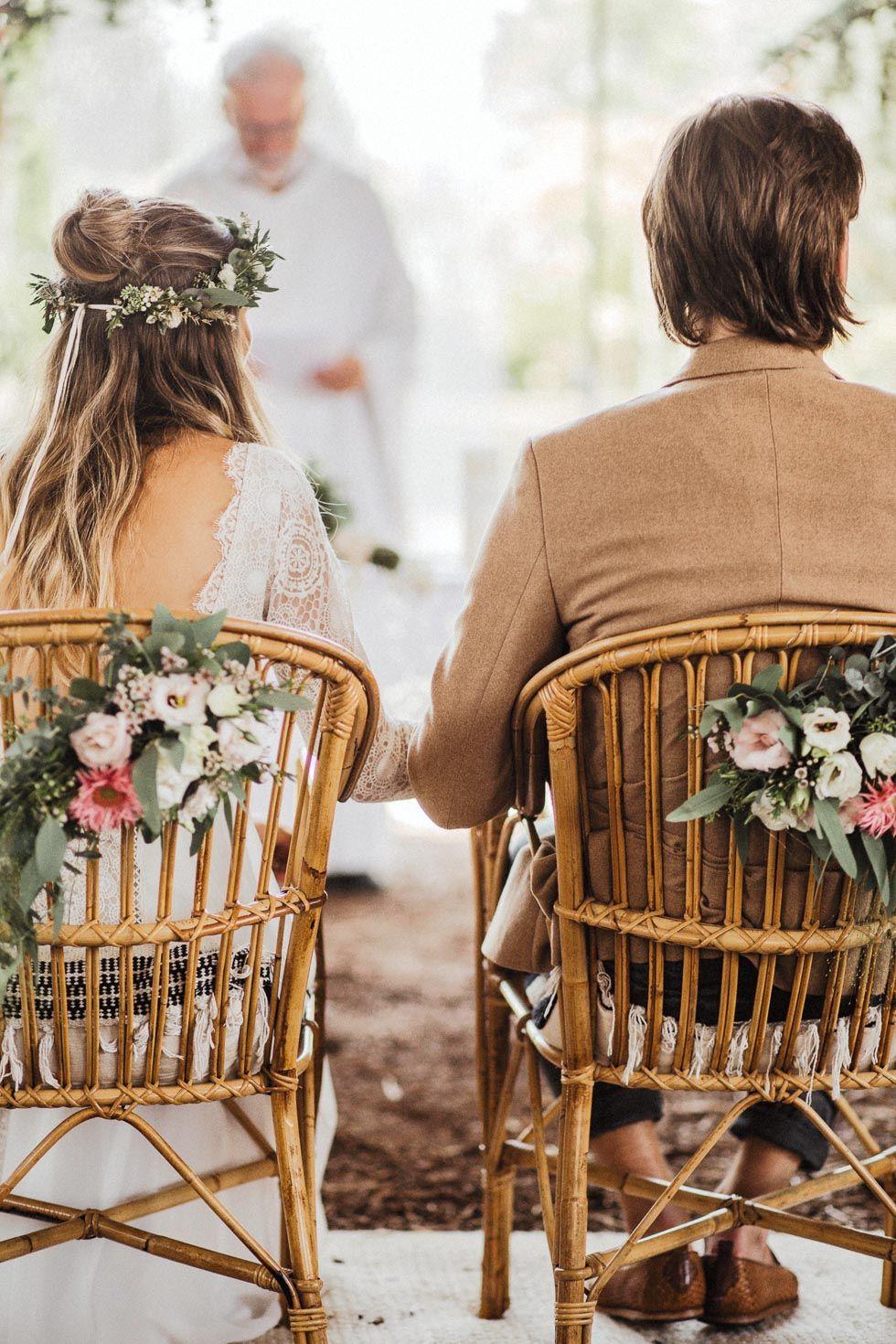 Freie Trauung Dekoration Stuhle Bluten Unterlagen Hochzeit Trauung Furbitten Hochzeit