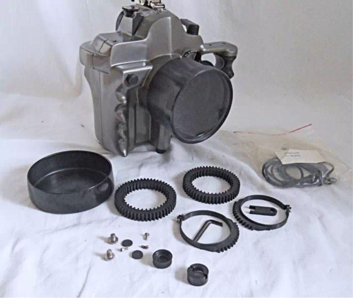 Vintage Nikon F3 35mm Film Uw Underwater Camera Housing Aluminum Tus Pro Line Underwater Camera Housing Underwater Camera Home Camera