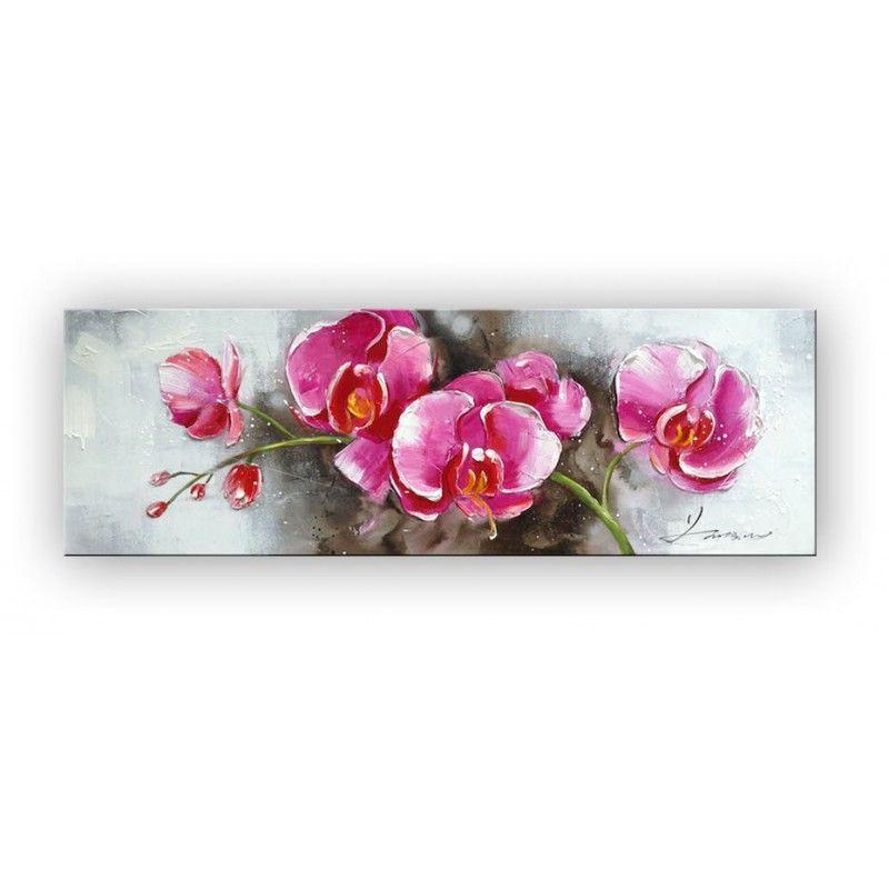 Tableau peinture roses de printemps tableau peinture - Fleurs roses de printemps ...
