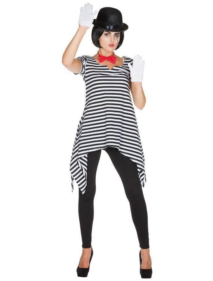 Tunika Pantomime Damen schwarz/weiß für Karneval & Fasching » Deiters #pantomime #kleid #clown #schwarz #weiß #gestreift #fliege #rot #Damen #Frauen #ladies #woman #kostüm #Kostüme #Deiters #Karneval #Karnevalskostüm #Faschingskostüm #Halloween #costume #Fasching #Weiberfastnacht #Fastnacht #Verkleidung #Mottoparty #Kostuum #Déguisement #Disfraz #Kostume