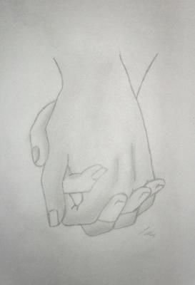 Holding Hands Drawing #drawingideaspencil