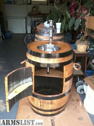 whiskey barrel sink oak whiskey barrel sink with
