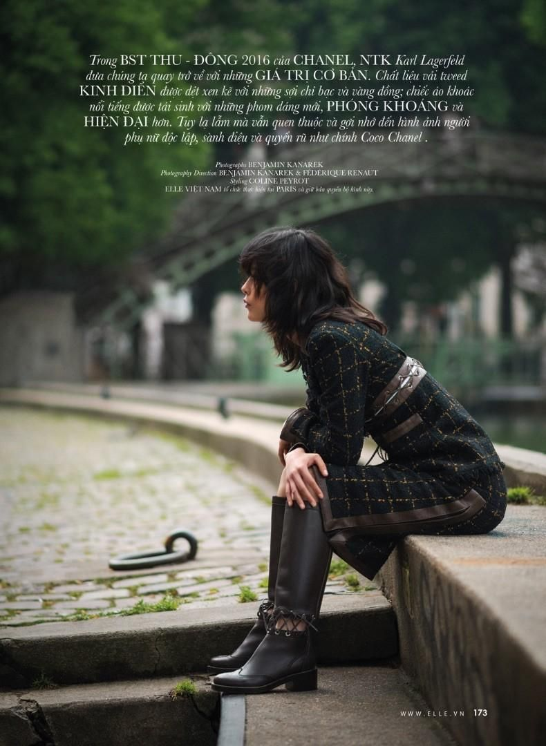 Once Upon a Time in Paris - Mae Lapres by Benjamin Kanarek for Elle Vietnam September 2016