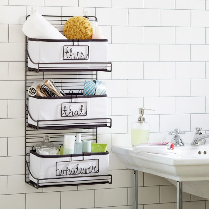 3-Tier Wire Bath Shelf | Apartment organization | Pinterest | PB ...
