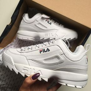Blanc Chaussure Destructor Baskets Disruptor Fila zw0az