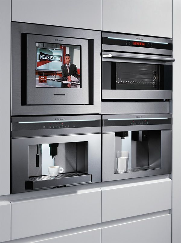 Electrolux Pan European Appliance Design Includes An LCD TV