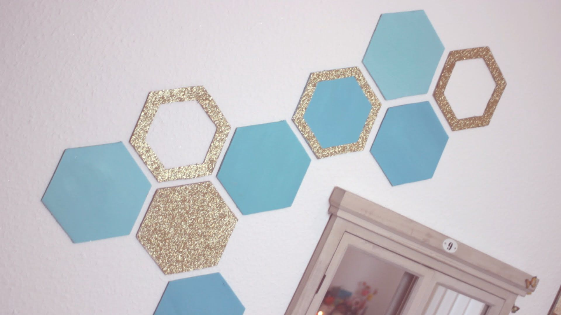 Diy honeycomb wall decor easy recycling home decor idea home