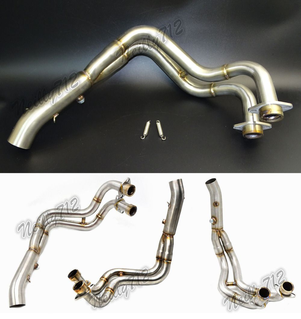 Motorcycle Middle Exhaust Header Pipe Tube Manifold For