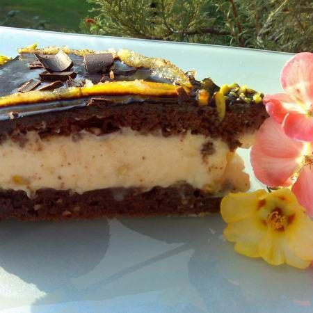 Brownie torta mascarponés narancskrémmel és kandírozott naranccsal Recept képpel - Mindmegette.hu - Receptek
