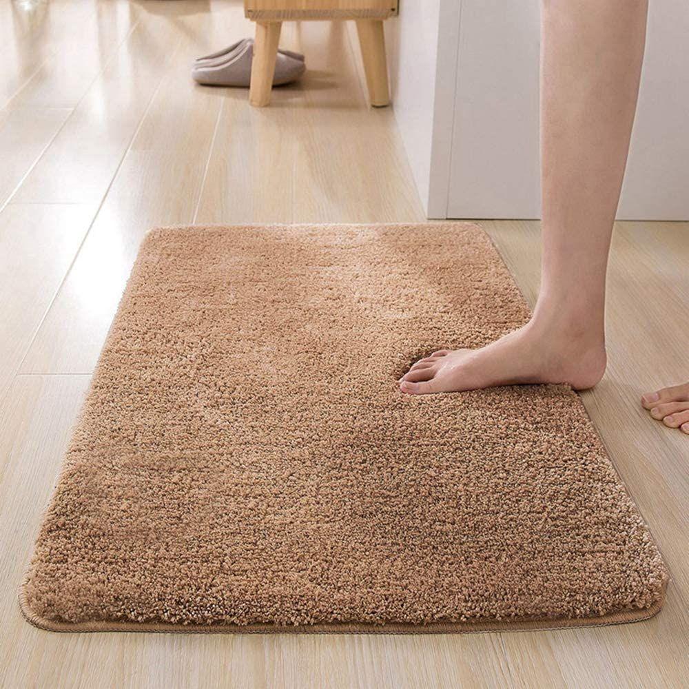 Badematte Badezimmer Teppich Einfarbig Hochflor Badteppich Badezimmerteppich Teppich