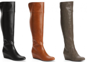Kohl S Com Jennifer Lopez Hidden Wedge Over The Knee Boots As Low As 20 99 Shipped Normally 110 Over The Knee Boots Boots Over The Knee