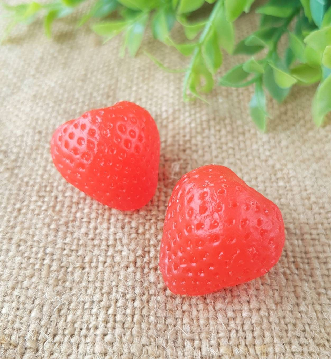 """/""""Strawberry/"""" silicone mold for soap and candles making mould molds"""
