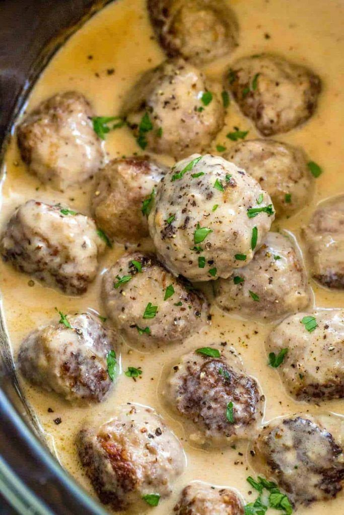 Slow Cooker Swedish Meatballs Best Recipe   Cooking Frog