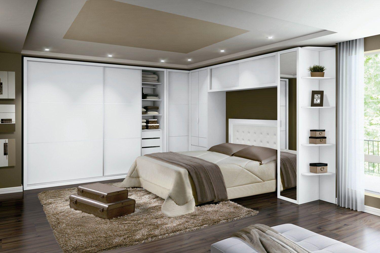 moveis planejados para quarto branco