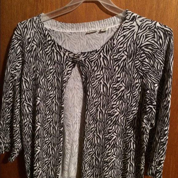 Zebra cardigan Cato xl cardigan 3/4 sleeves Sweaters Cardigans
