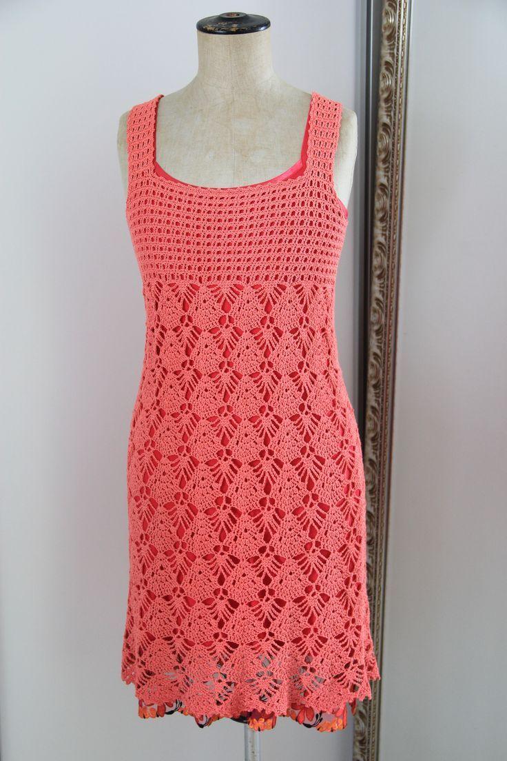 29ee7fa541dc7b2e57b997b24bee7a31.jpg (736×1104)   vestido de croche ...