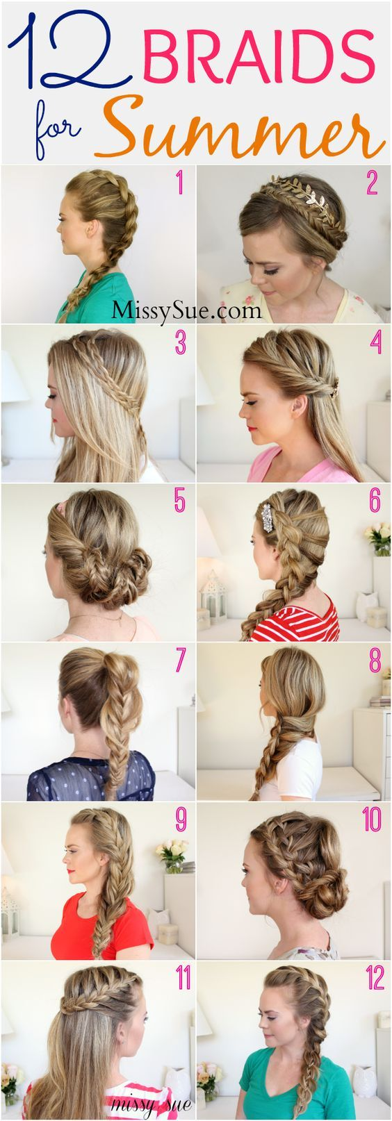 12 braids for summer -- beat the heat and look cute with these
