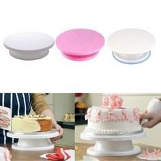 Cake Decorating Turntable Awesome Rotating Revolving Icing Kitchen Display Stand Turntables Inclinab