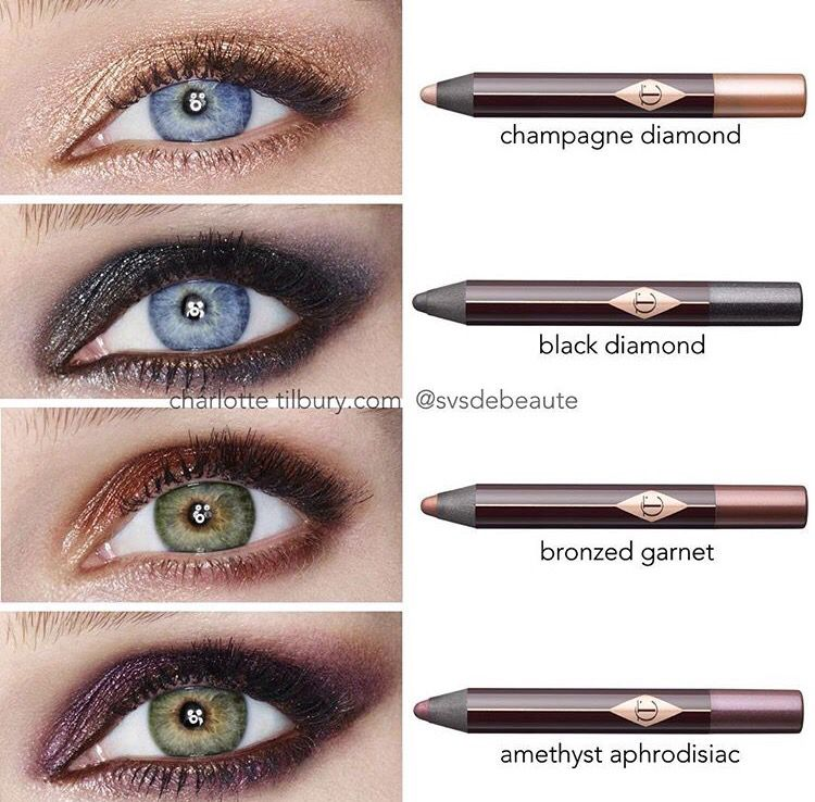 Charlotte Tilbury eyeshadow pencil swatches #makeup # ...