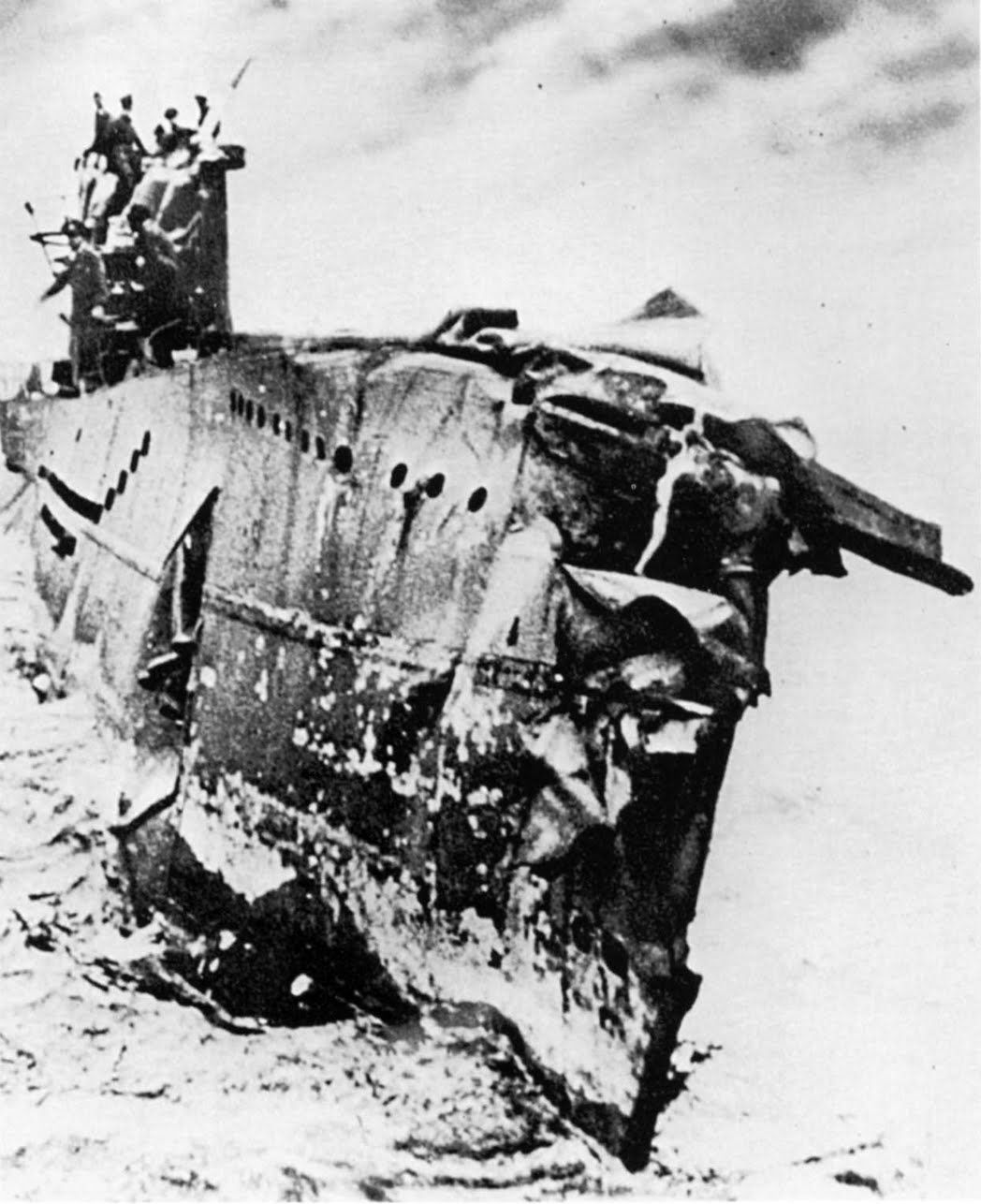 A U Boat Vii Returns To Base With Severe Damage After Beinged With Depth Charges