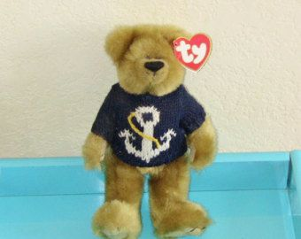 Beanie Baby Attic Treasures Collection Salty the Bear RARE Retired Edition  1993 TY Christmas Gift Vintage Antique c6f13d4d829