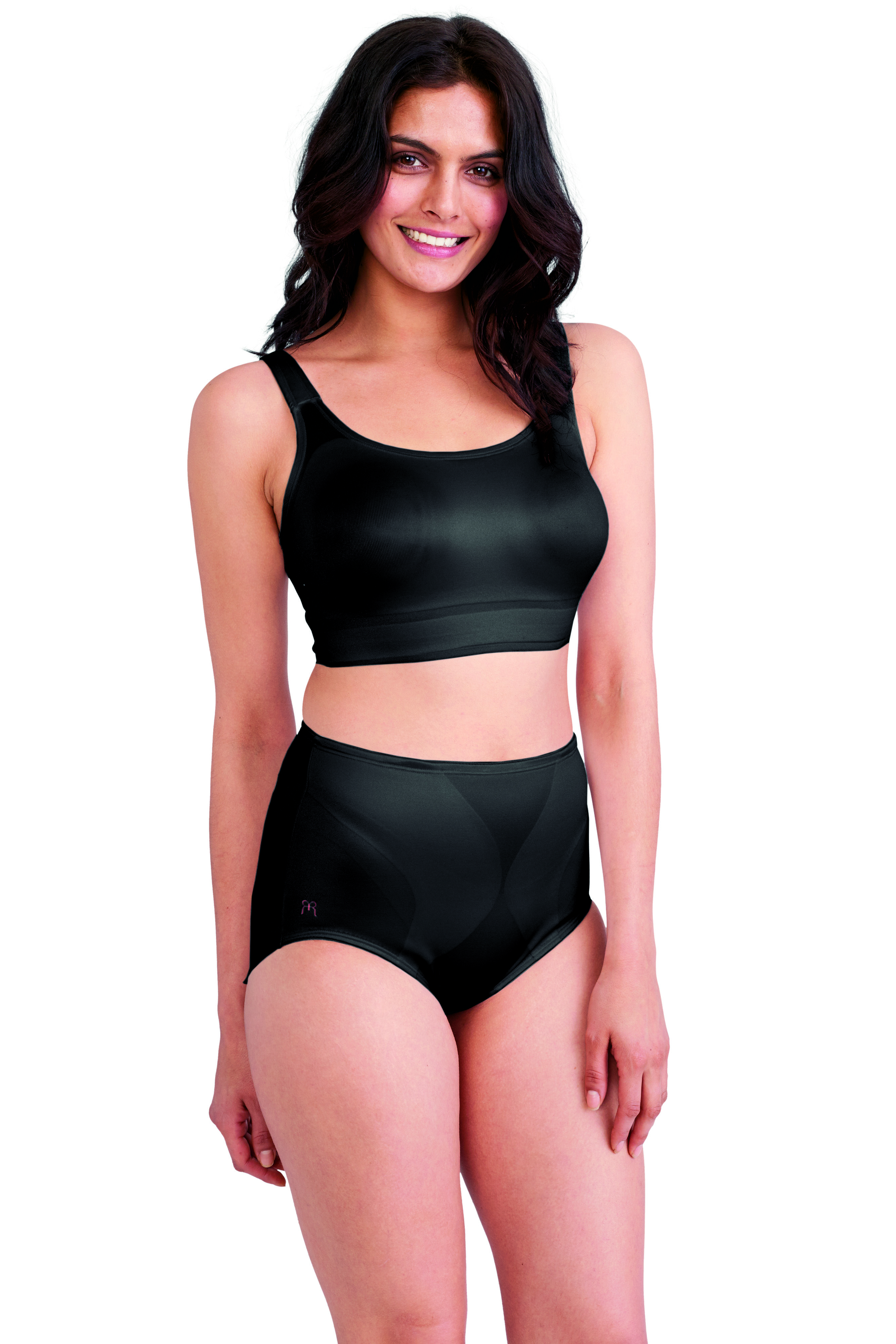 659cfd18fd The newly redesigned Ruby Ribbon Demiette™ in Black with matching shaping  brief!