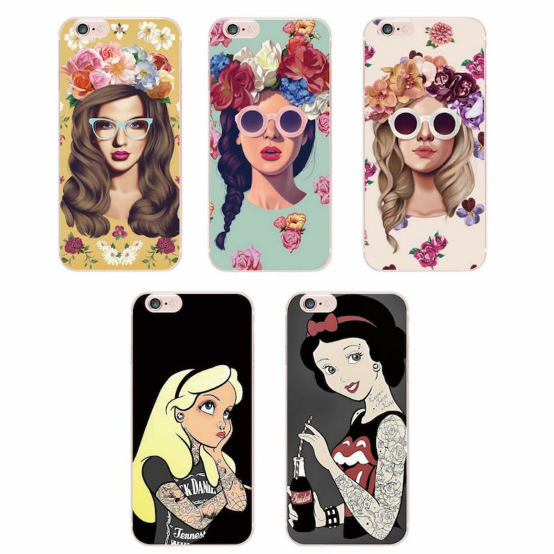 For iPhone 4 4S 5 5S 5C 6 6S 6Plus 7Plus 7 Samsung Punk Snow White ...