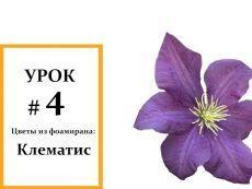 Клематис мастер класс, Фоамиран цветы, Мастер класс из фоамирана