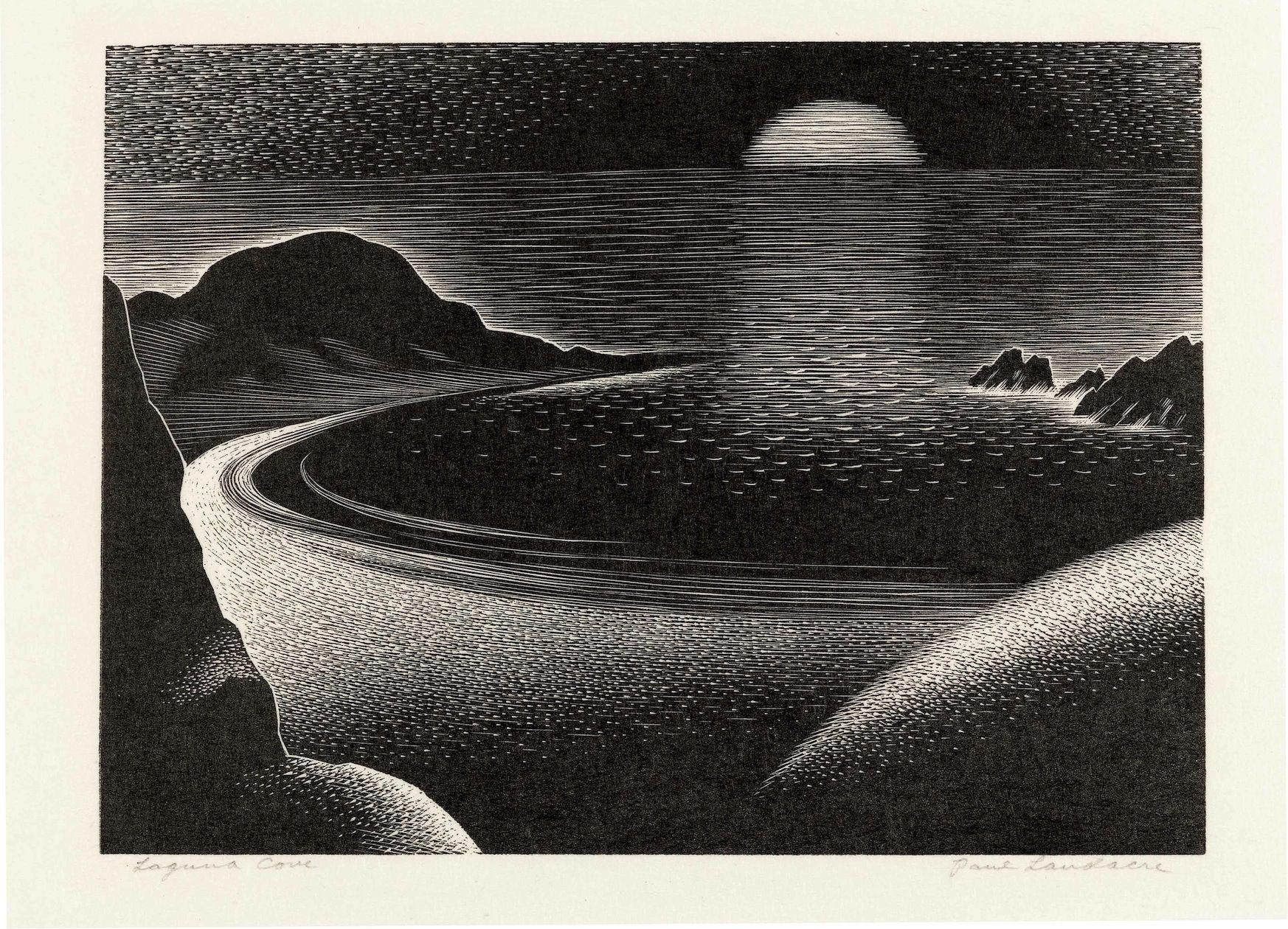 Paul Landacre, Laguna Cove, 1935, Wood engraving, 18,73 x 27,31 cm, National Gallery of Art, Washington