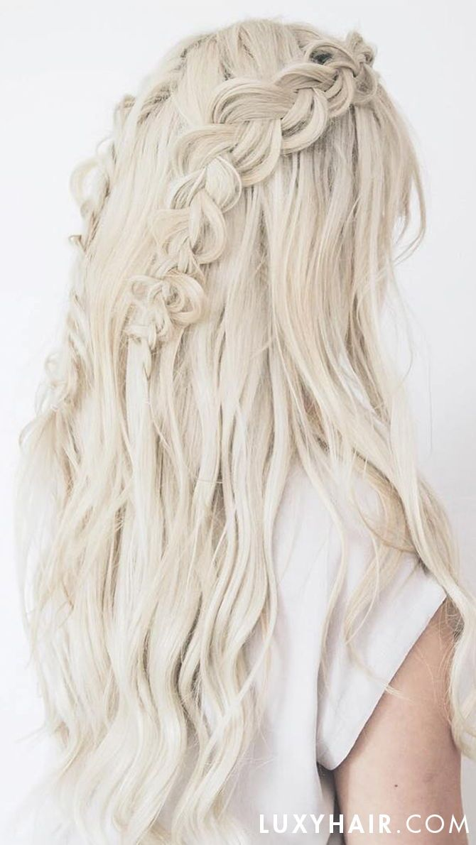 Seamless Platinum Blonde 90 20 180g Luxy Hair Extensions