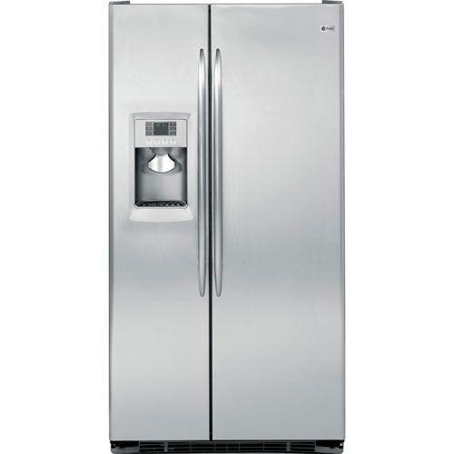 Nice GE 220 240 Volt 50 Hertz 61 Cm Depth Stainless Steel Refrigerator PCE23TGXF  SS