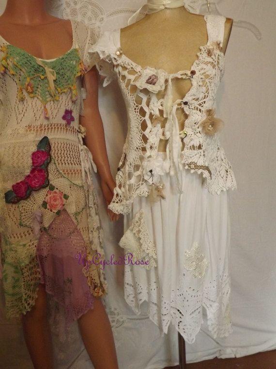 Shabby Chantel Went To Bali Upcycled Skirt Ready door UpcycledRose