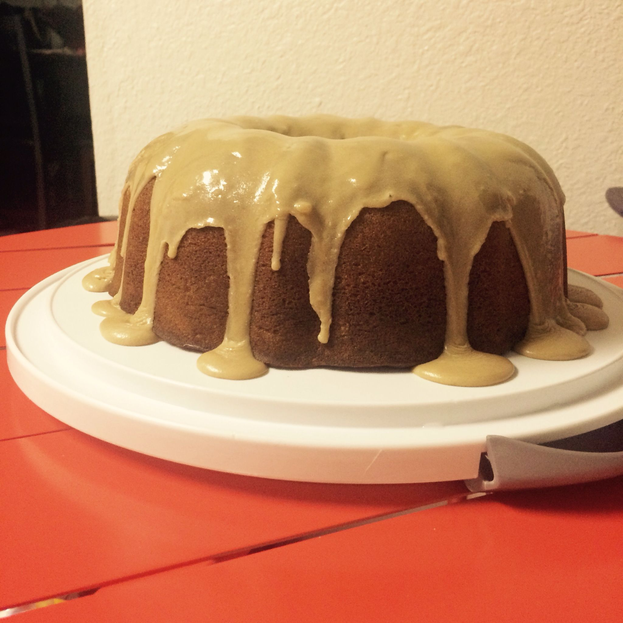 That frosting thou!! Caramel Pound Cake