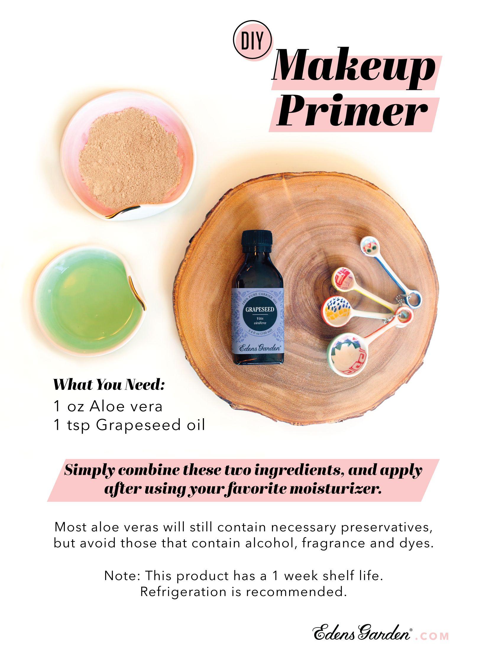 Grapeseed Carrier Oil Natural Makeup Recipes Makeup Primer Makeup Recipes