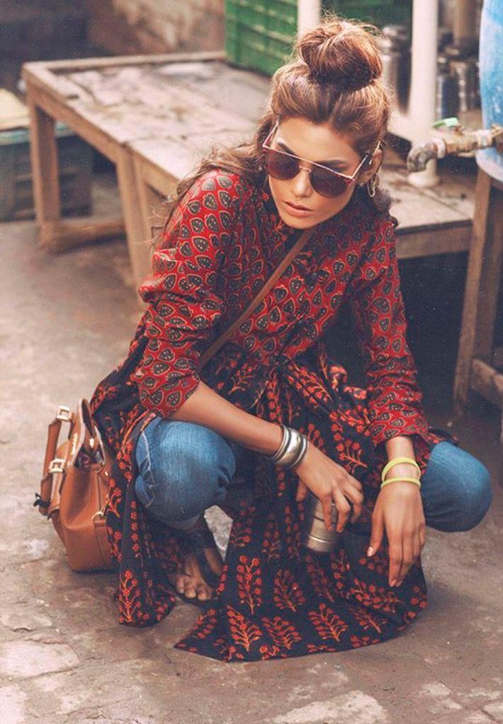Kimono + Jeans = Boho Street Style | What to wear | Boho ...