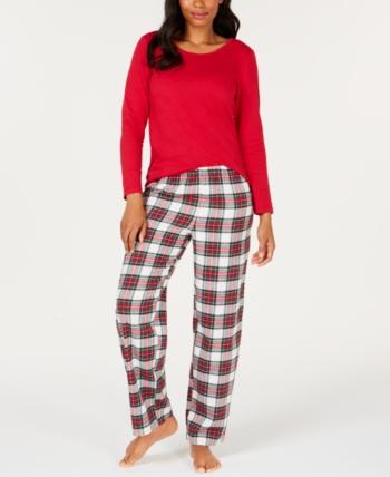 fc8f1b6829920 Matching Family Pajamas Women's Stewart Plaid Pajama Set, Created ...