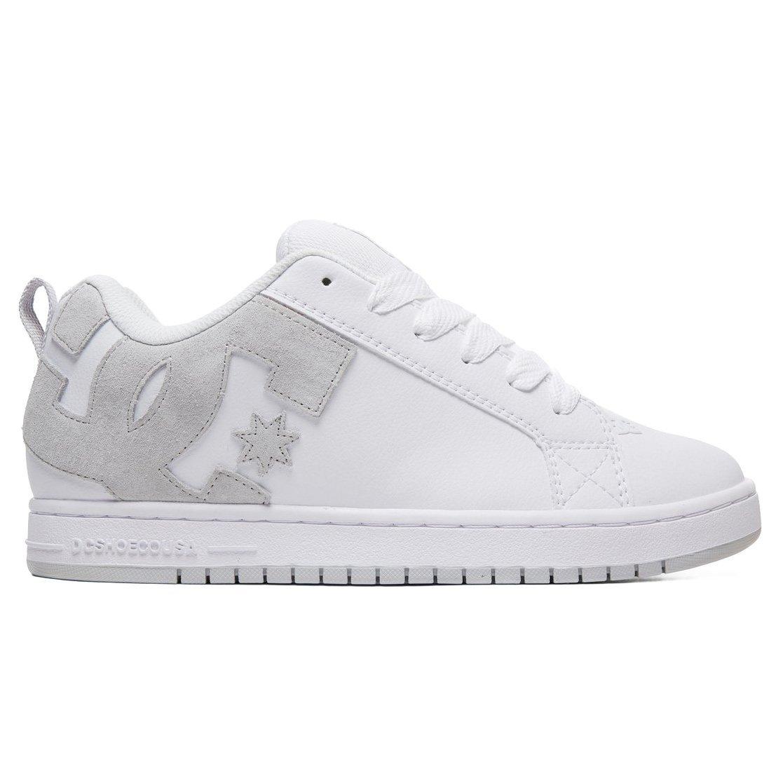 DC Court Graffik Shoes, White Grey/Grey