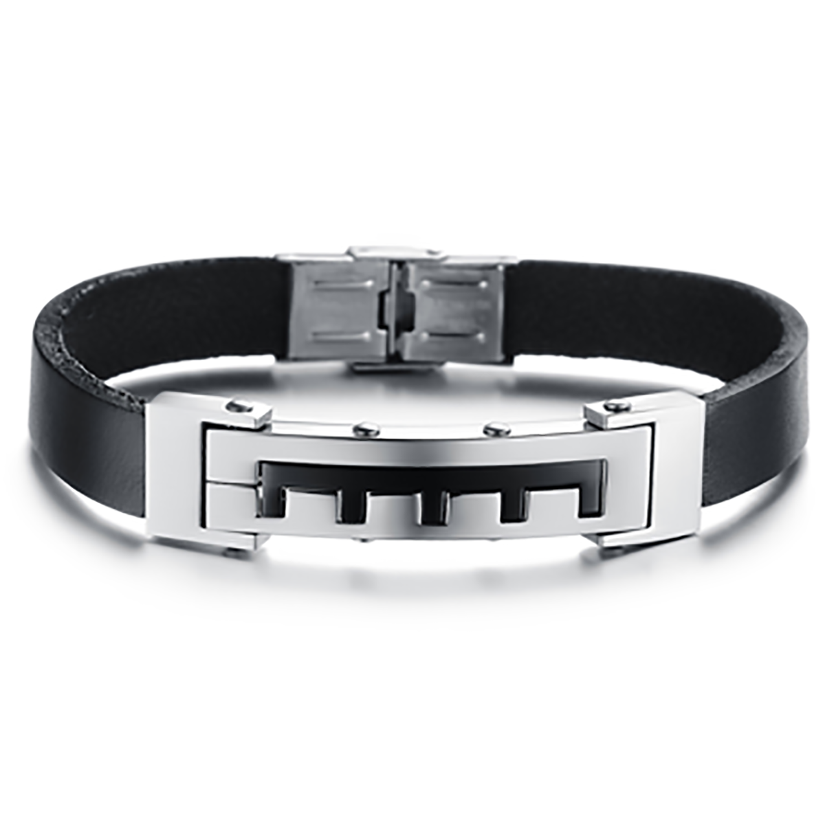 Esston leather bracelet stainless steel wristware pinterest