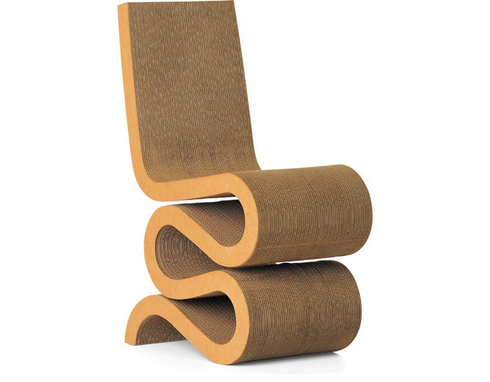 Wiggle Chair Design Frank Gehry 1972 Cardboard Layers Fibreboard Edging Made In Germany By Vitra