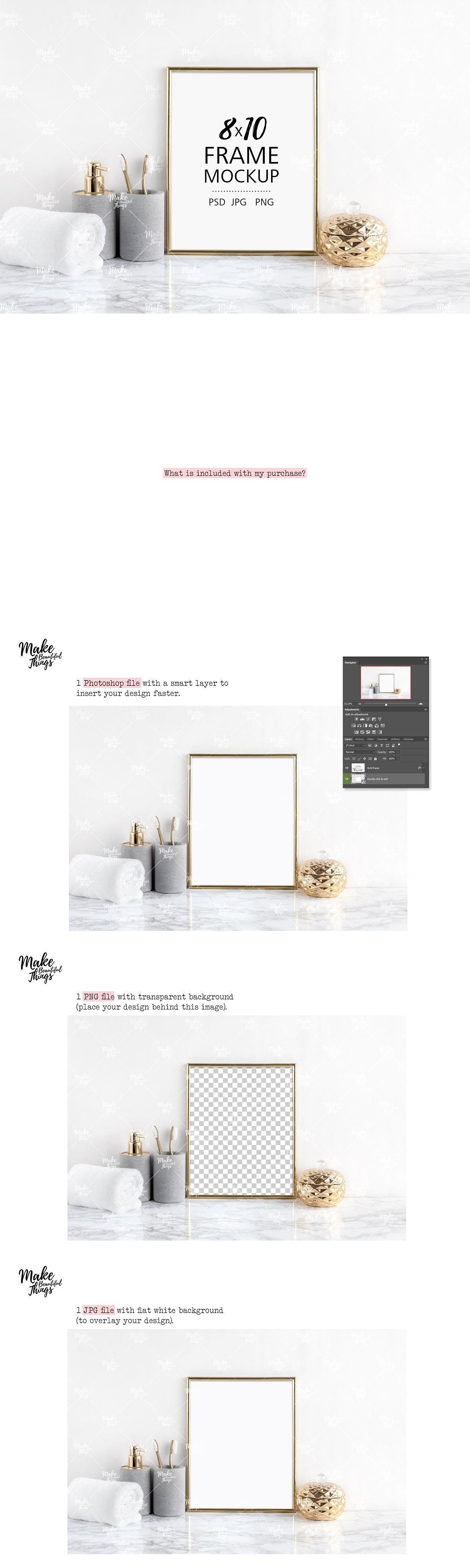 Her Bathroom 3D Kit 8x10