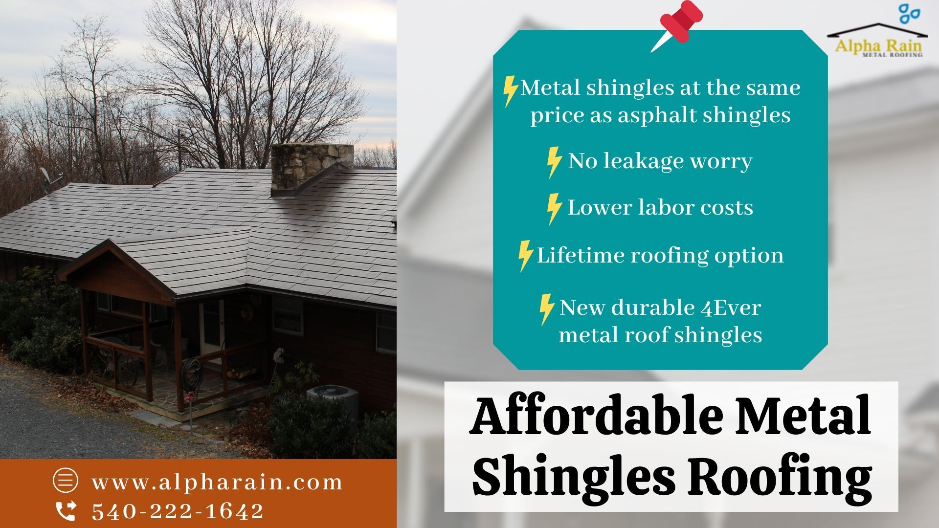 We Provide You Inexpensive And Easy Installation Metal Shingles Roofing Our New 4ever Metal Shingle Is Safe To Wal In 2020 Metal Shingles Shingling Metal Shingle Roof