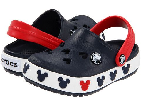 32f70848f4ab13 Crocs Kids Crocband Mickey II (Toddler Little Kid) Navy Red - Zappos.com  Free Shipping BOTH Ways