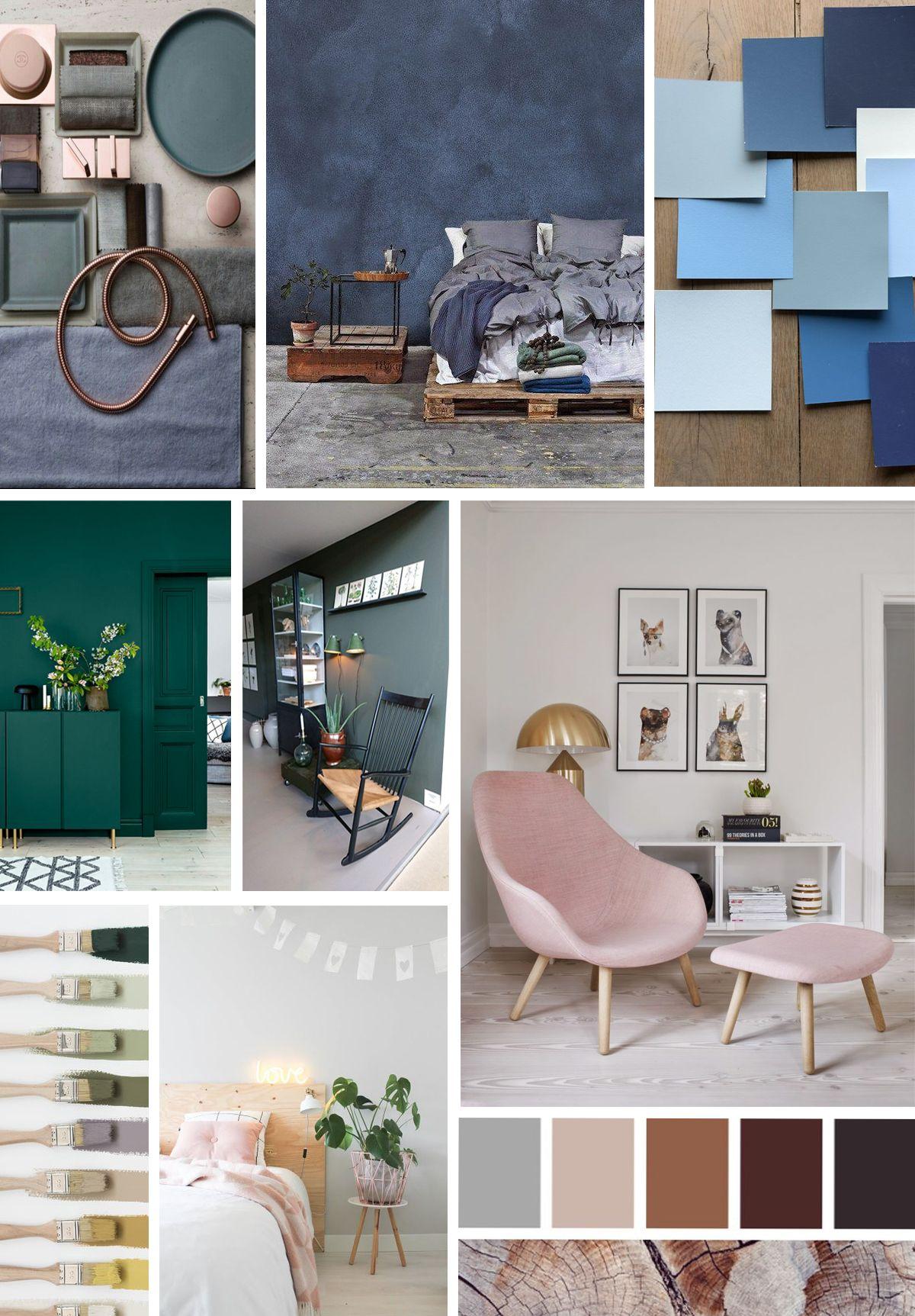 interieur kleuren trend 2018  Stijlen  Gallery wall