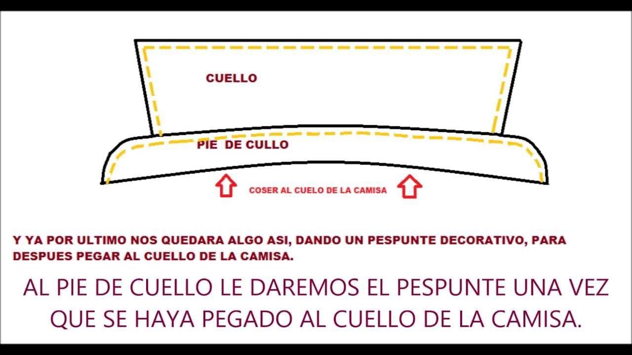COMO HACER EL CUELLO Y PIE DE CUELLO DE LA CAMISA HOMBRE | Videos de ...