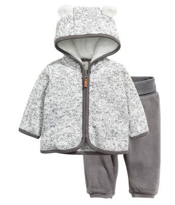 Simple Joys by Carters Baby-Jungen Hooded Sweater Jacket with Sherpa Lining