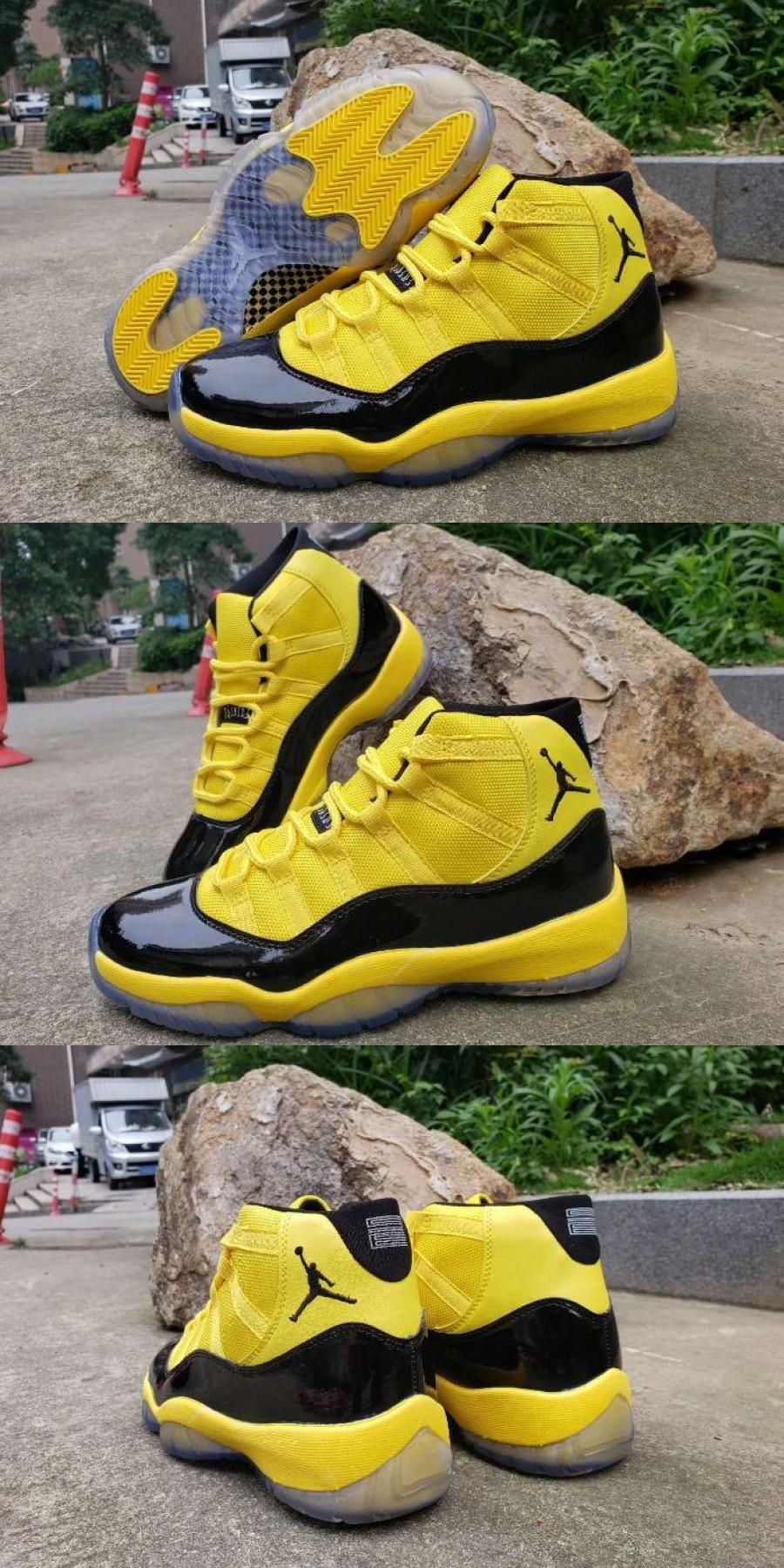 "2020 的 Air Jordan 11 ""bumblebee"" Yellow Black For 主题"