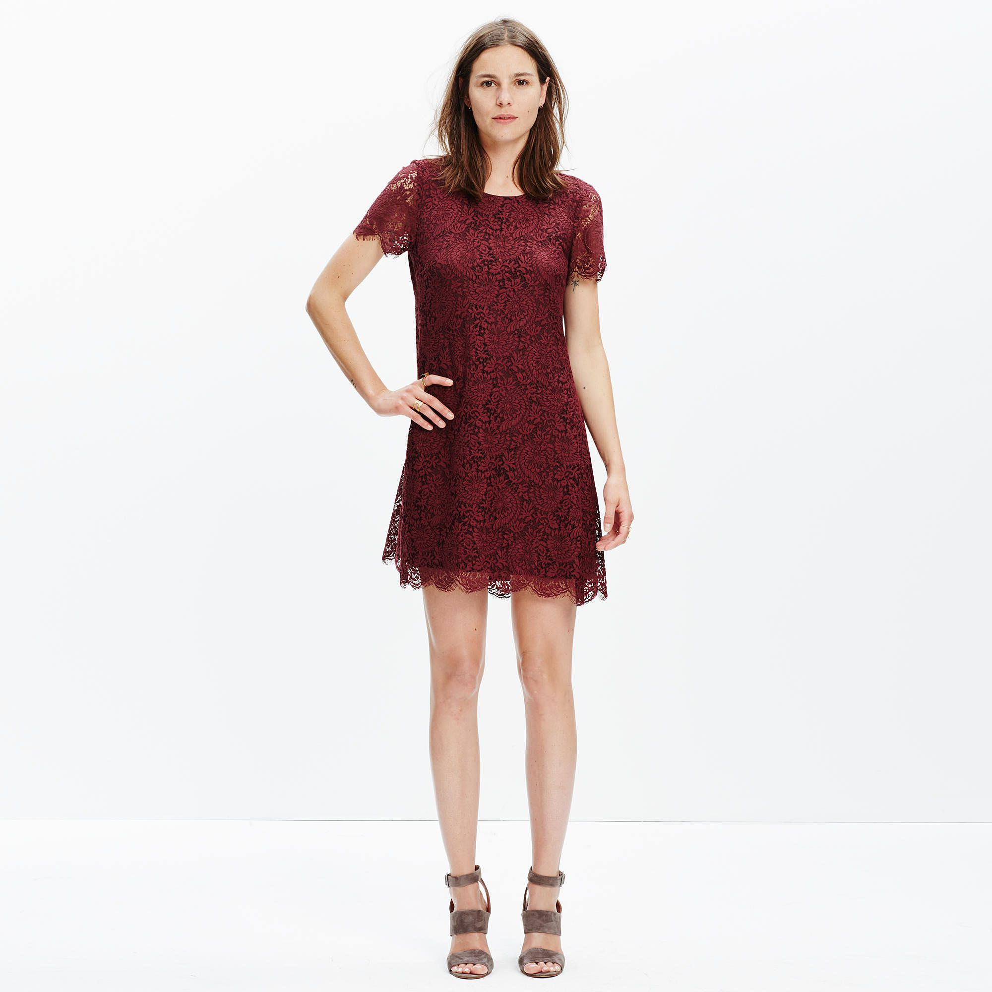 22 Fall Dresses That Fit Any Dress Code | Dress codes, Floral lace ...